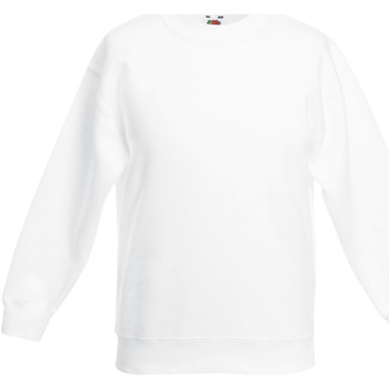 Abbigliamento Unisex bambino Felpe Fruit Of The Loom 62031 Bianco