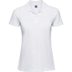 Abbigliamento Donna Polo maniche corte Russell 569F Bianco