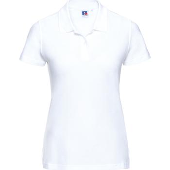 Abbigliamento Donna Polo maniche corte Russell J577F Bianco