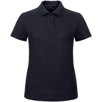 Abbigliamento Donna Polo maniche corte B And C ID.001 Blu navy