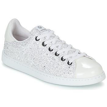 Scarpe Donna Sneakers basse Victoria TENIS GLITTER Bianco