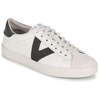 Scarpe Uomo Sneakers basse Victoria BERLIN PIEL CONTRASTE Bianco / Grigio