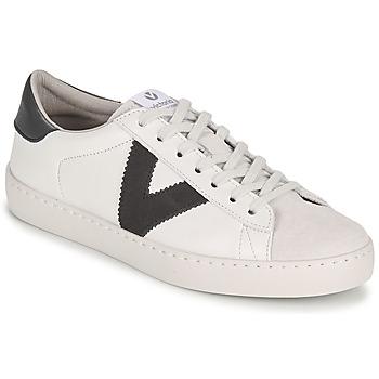 Scarpe Donna Sneakers basse Victoria BERLIN PIEL CONTRASTE Bianco / Grigio