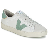 Scarpe Donna Sneakers basse Victoria BERLIN PIEL CONTRASTE Bianco / Verde