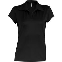Abbigliamento Donna Polo maniche corte Kariban Proact PA483 Nero