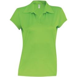 Abbigliamento Donna Polo maniche corte Kariban Proact PA483 Verde lime