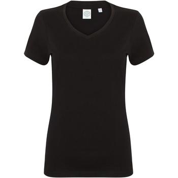 Abbigliamento Donna T-shirt maniche corte Skinni Fit SK122 Nero