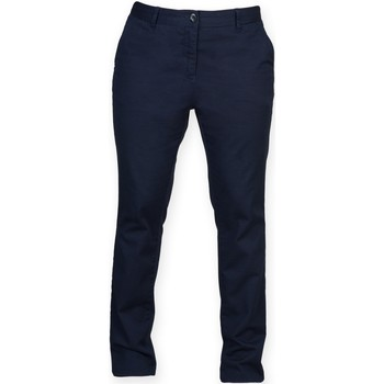 Abbigliamento Donna Chino Front Row FR622 Blu navy