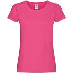 Abbigliamento Donna T-shirt maniche corte Fruit Of The Loom 61420 Fucsia