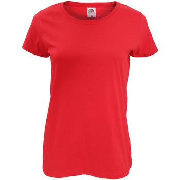 Abbigliamento Donna T-shirt maniche corte Fruit Of The Loom 61420 Rosso