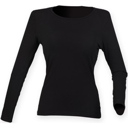 Abbigliamento Donna T-shirts a maniche lunghe Skinni Fit SK124 Nero