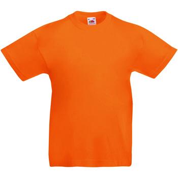 Abbigliamento Unisex bambino T-shirt maniche corte Fruit Of The Loom 61019 Arancio