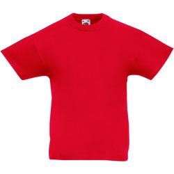 Abbigliamento Unisex bambino T-shirt maniche corte Fruit Of The Loom 61019 Rosso