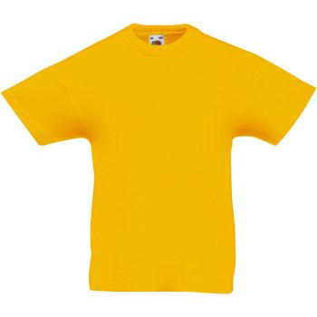 Abbigliamento Unisex bambino T-shirt maniche corte Fruit Of The Loom 61019 Girasole