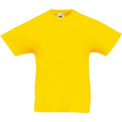 Abbigliamento Unisex bambino T-shirt maniche corte Fruit Of The Loom 61019 Giallo