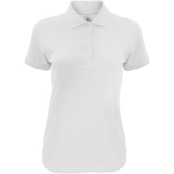 Abbigliamento Donna Polo maniche corte B And C Safran Bianco