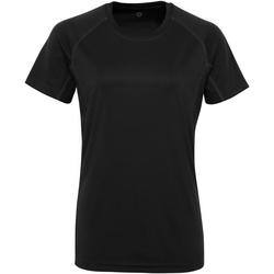 Abbigliamento Donna T-shirt maniche corte Tridri Panelled Nero