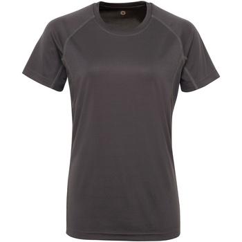 Abbigliamento Donna T-shirt maniche corte Tridri Panelled Carbone