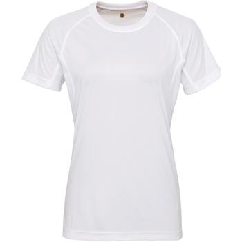 Abbigliamento Donna T-shirt maniche corte Tridri Panelled Bianco