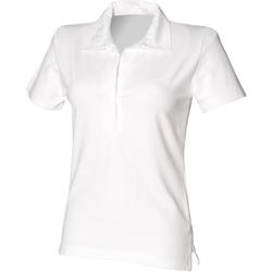Abbigliamento Donna Polo maniche corte Front Row FR78M Bianco