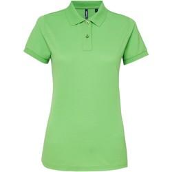 Abbigliamento Donna Polo maniche corte Asquith & Fox AQ025 Verde lime