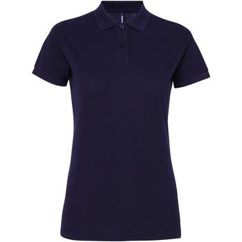 Abbigliamento Donna Polo maniche corte Asquith & Fox AQ025 Blu navy