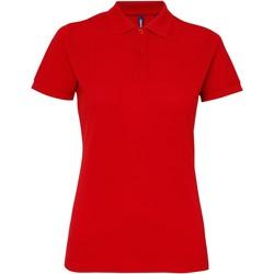 Abbigliamento Donna Polo maniche corte Asquith & Fox AQ025 Rosso