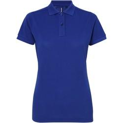 Abbigliamento Donna Polo maniche corte Asquith & Fox AQ025 Blu reale
