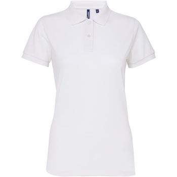 Abbigliamento Donna Polo maniche corte Asquith & Fox AQ025 Bianco