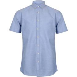 Abbigliamento Uomo Camicie maniche corte Henbury HB517 Blu