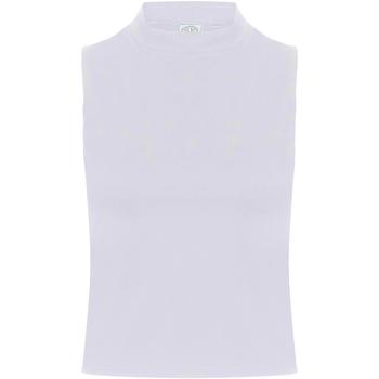 Abbigliamento Donna Top / T-shirt senza maniche Skinni Fit SK170 Bianco