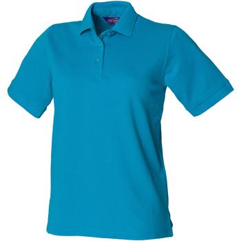 Abbigliamento Donna Polo maniche corte Henbury HB401 Turchese