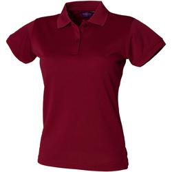 Abbigliamento Donna Polo maniche corte Henbury Coolplus Bordeaux