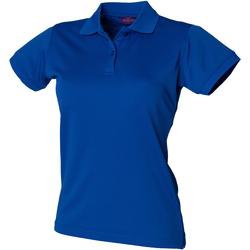 Abbigliamento Donna Polo maniche corte Henbury Coolplus Blu reale