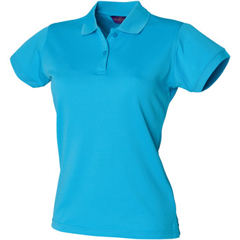 Abbigliamento Donna Polo maniche corte Henbury Coolplus Turchese