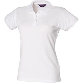 Abbigliamento Donna Polo maniche corte Henbury Coolplus Bianco