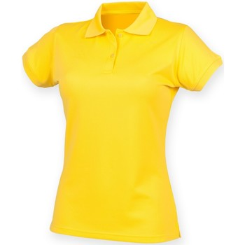 Abbigliamento Donna Polo maniche corte Henbury Coolplus Giallo