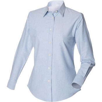 Abbigliamento Uomo Camicie maniche lunghe Henbury Classic Oxford Blu