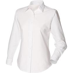 Abbigliamento Donna Camicie Henbury Classic Oxford Bianco