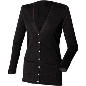 Abbigliamento Donna Gilet / Cardigan Henbury Fine Knit Nero