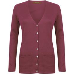 Abbigliamento Donna Gilet / Cardigan Henbury Fine Knit Bordeaux