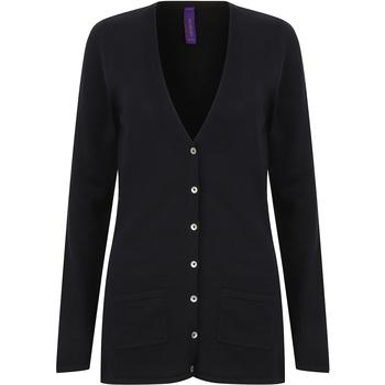 Abbigliamento Donna Gilet / Cardigan Henbury Fine Knit Blu navy