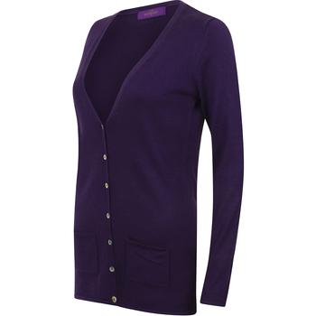 Abbigliamento Donna Gilet / Cardigan Henbury Fine Knit Viola