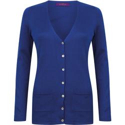 Abbigliamento Donna Gilet / Cardigan Henbury Fine Knit Blu reale