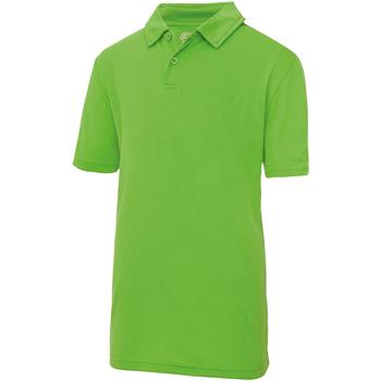 Abbigliamento Unisex bambino Polo maniche corte Awdis JC40J Verde lime