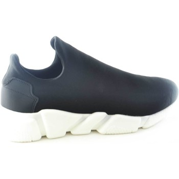 Scarpe Uomo Sneakers basse Malu Shoes Scarpe uomo calzino lycra nero fondo bianco antistatica e antisc NERO