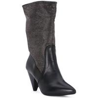 Scarpe Donna Tronchetti Juice Shoes TEVERE NERO STRASS CANNA DI FUCILE Grigio