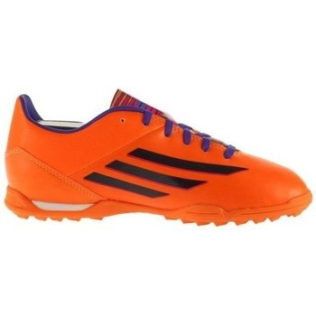 Scarpe Unisex bambino Sneakers basse adidas Originals F10 Trx TF J Nero-Arancione-Viola