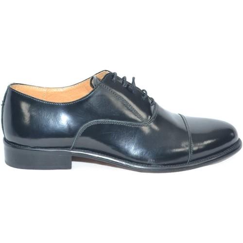 il più economico super speciali stile classico Scarpe uomo francesina inglese 015 vera pelle lucida nera made