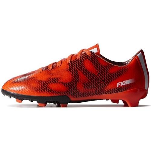 Scarpe Unisex bambino Calcio adidas Originals F10 FG J Nero-Arancione